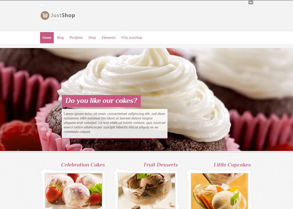Justshop Cake Bakery WordPress Tema Kurulumu