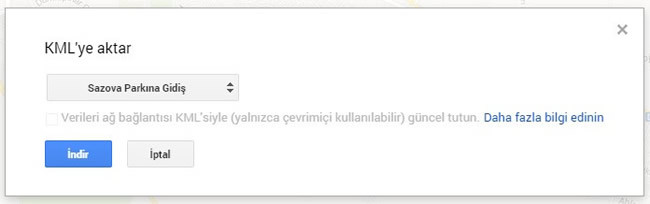 google-maps-kml-aktarma