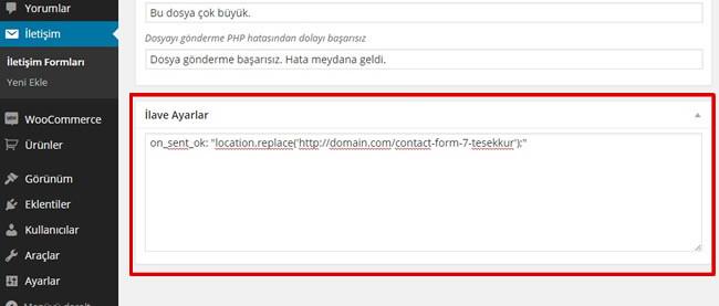 contact-form-7-tesekkur-sayfasi-eklemek